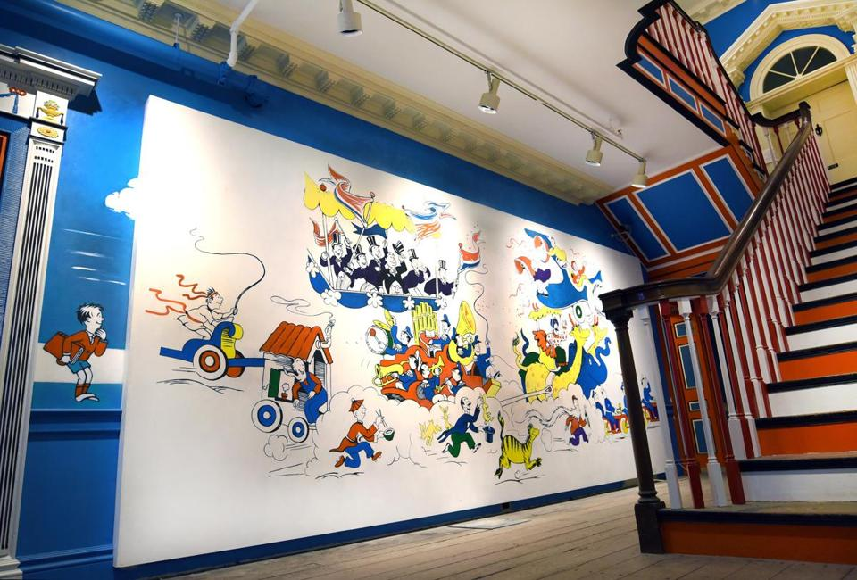 A mural at the The Amazing World of Dr. Seuss Museum in Springfield.